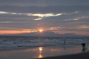 湘南海岸夕日